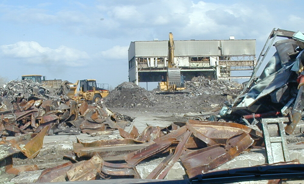 pastato demontavimo darbai